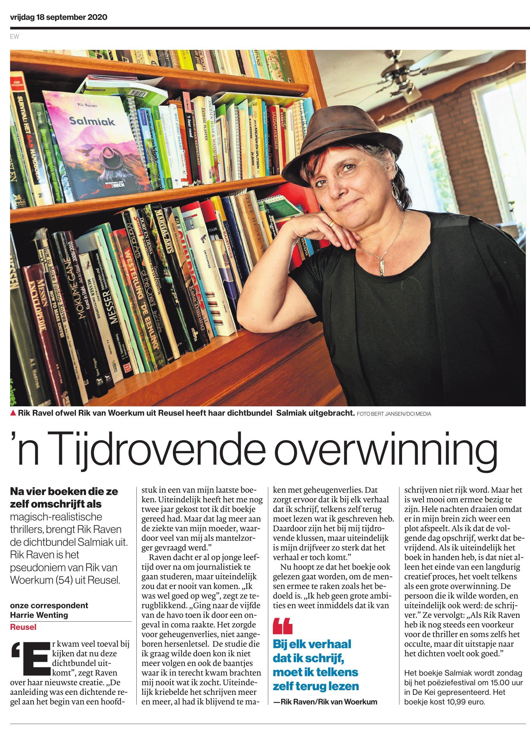 Artikel Eindhovens Dagblad 18 sept 2020